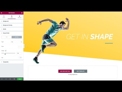 Elementor - Introducing Shape Divider for WordPress Page Sections