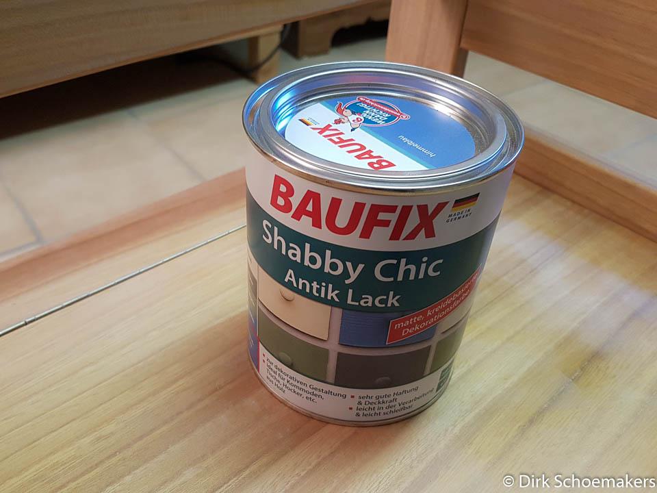 Dose Baufix Antik-Lack in Himmelblau